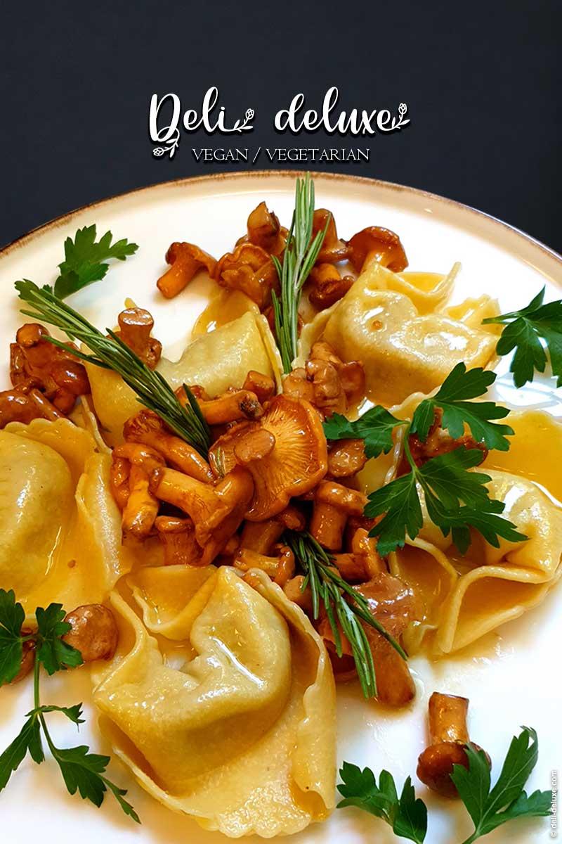 Tortelloni gefüllt mit Pfifferlingen 🥕