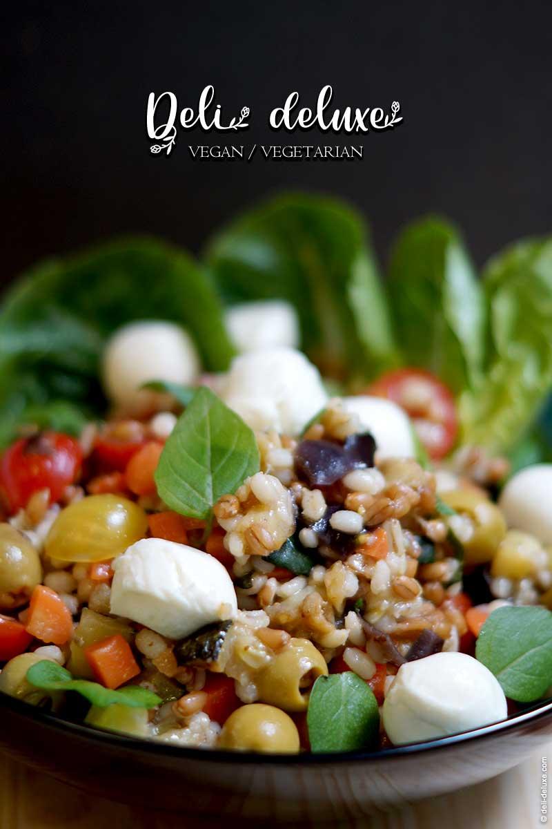 Dinkel- und Graupen-Salat mit Gemüse