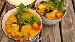 vegan Kichererbsen Zucchini Curry