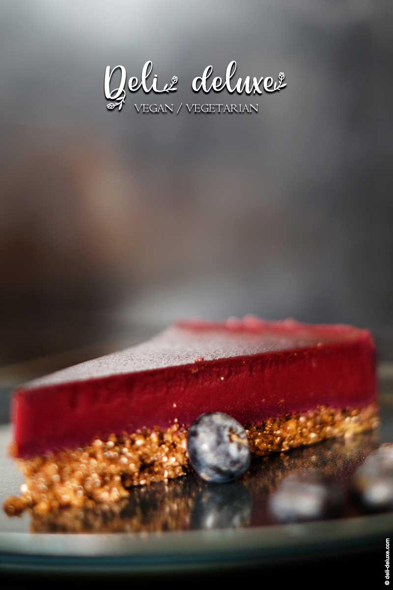 Blaubeer-Tarte mit Schoko-Walnuss-Boden 🥕🥕