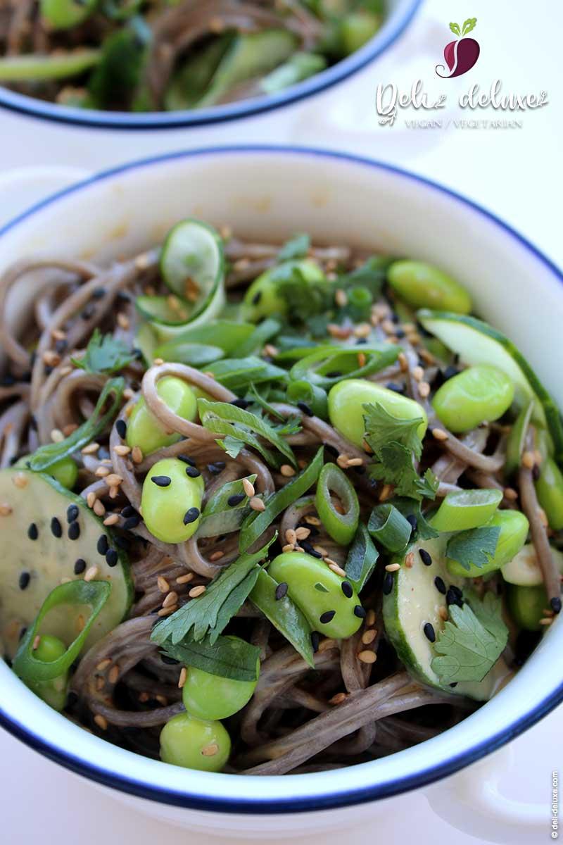 Soba-Nudel-Salat mit Erdnuss-Dressing 🥕🥕