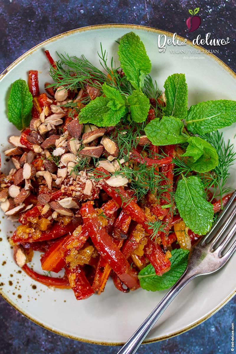 Ofenkarotten-Salat mit süß-sauren Chamoy 🥕🥕