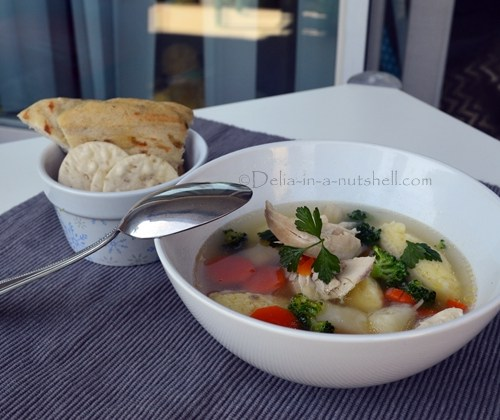 Flu-killing Romanian chicken soup with fluffy semolina dumplings