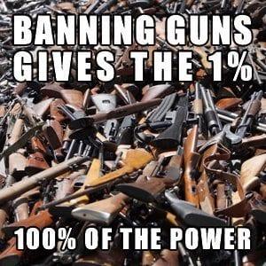 Zákaz zbraní předá jednomu procentu 100% moci