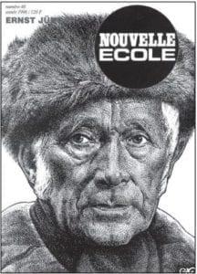 Titulní strana časopisu Nouvelle Ecole č. 48/1996, věnovaného Ernstu Jüngerovi