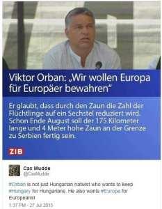 """Nevídané kacířství vůči náboženství multikulti! Orbán není jen """"nativista"""", který chce zachovat Maďarsko Maďarům. On chce dokonce i Evropu pro Evropany!"""
