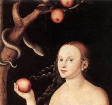 Willem Vrelant - Adam and Eve Eating the Forbidden Fruit, 1460