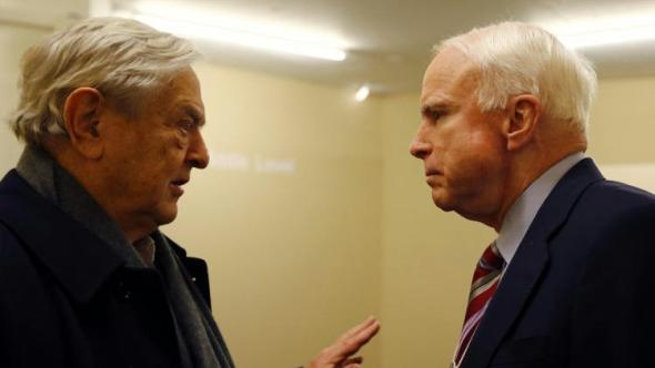 George Soros John McCain