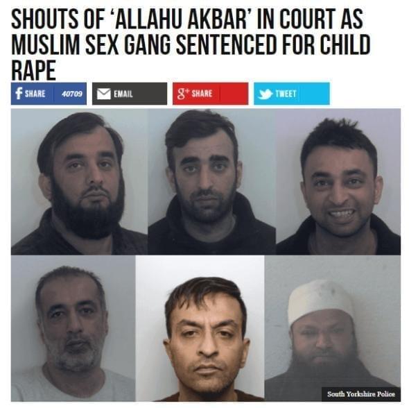 Rotherham muslim rape gang