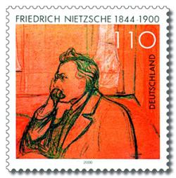 Friedrich Nietzsche poštovní známka