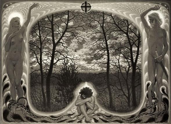 Fidus - Abendliche Schauung, 1930