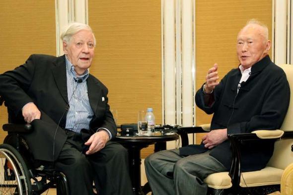 Helmut Schmidt a Li Kuang-jao