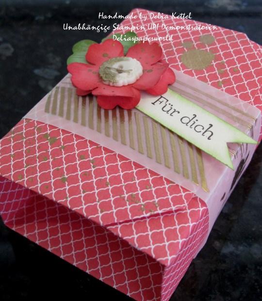 Origami Box Rhabarberrot