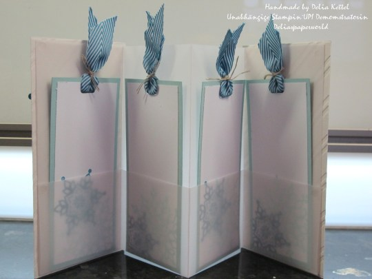 Festive Flurry Vellum Mini Album 3