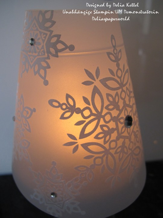 Lampenschirm Schneeflocken 2