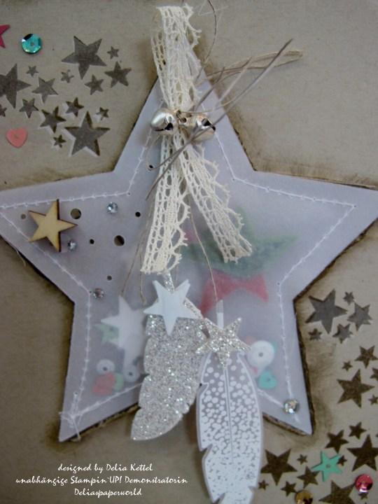 Weihnachtskarte mit Vellum-Stern 3 by Delia Kettel