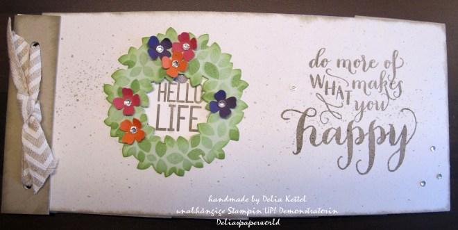 Mini-Album Circle Thinlits Painted Petals 1