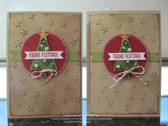 Weihnachtskarte Baum 1
