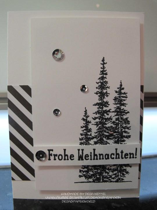 Weihnachtskarte schwarz weiß 1