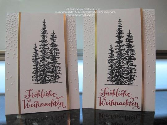 Weihnachtskarte schwarz weiß gold