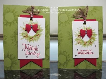 Weihnachtskarte mit Sonnenblume 01