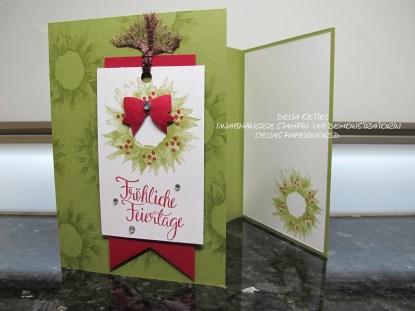 Weihnachtskarte mit Sonnenblume 02