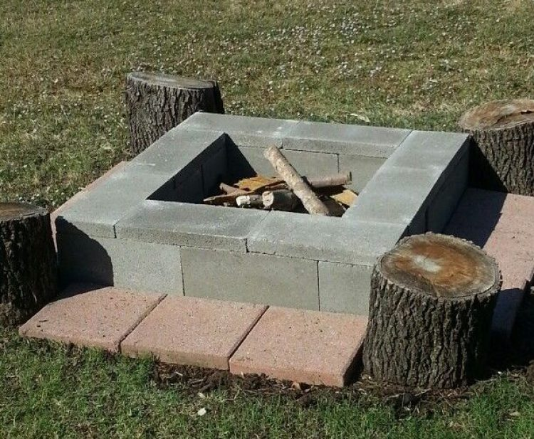 cinder block fire pits types design ideas and tips how to build it. Black Bedroom Furniture Sets. Home Design Ideas
