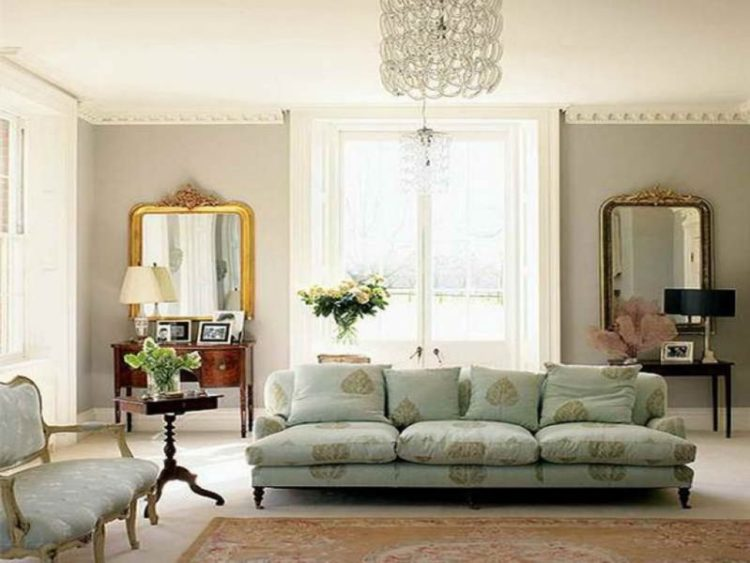Decorate living room with mirror