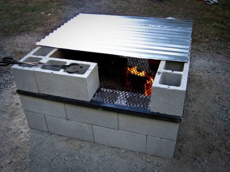 Simple Cinder Block Fire Pit
