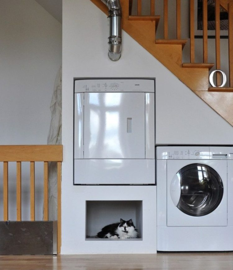 Under stairs laundry room