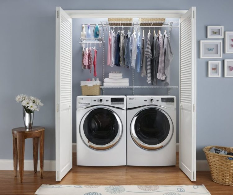 Wall sapce usage laundry room