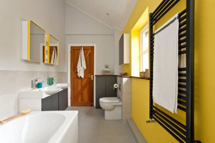 Narrow Half Bathroom Design