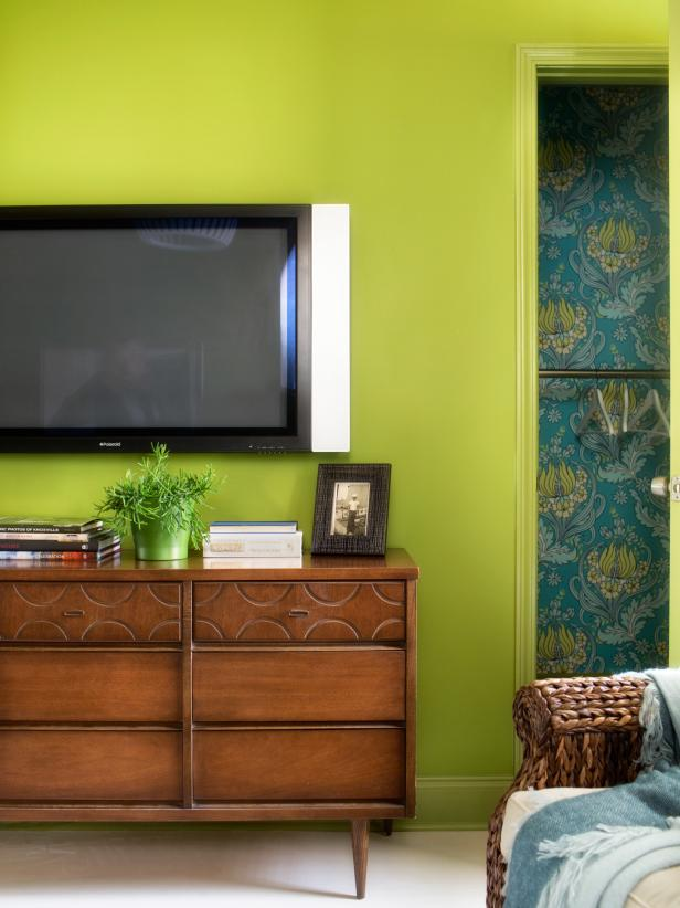 Lime Green Media Room