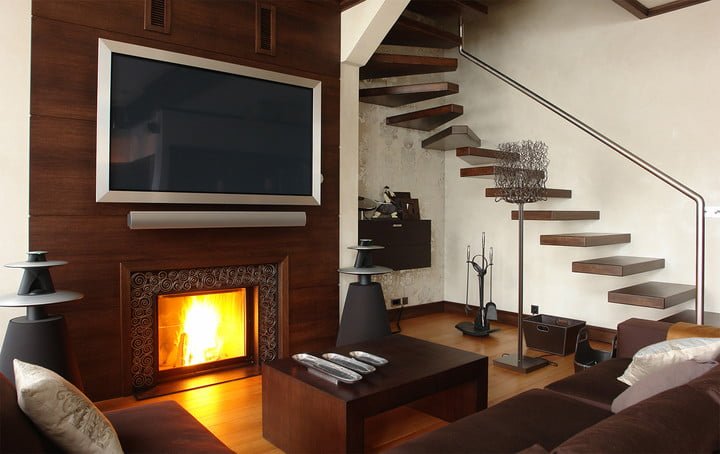 Above Fireplace