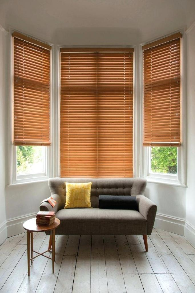 Window Treatment Ideas with Wood Blinds