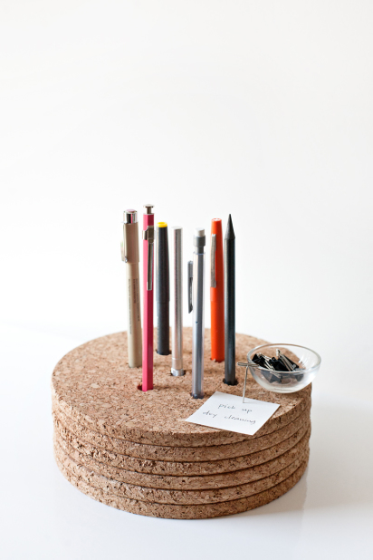 Cork Pencil Holder