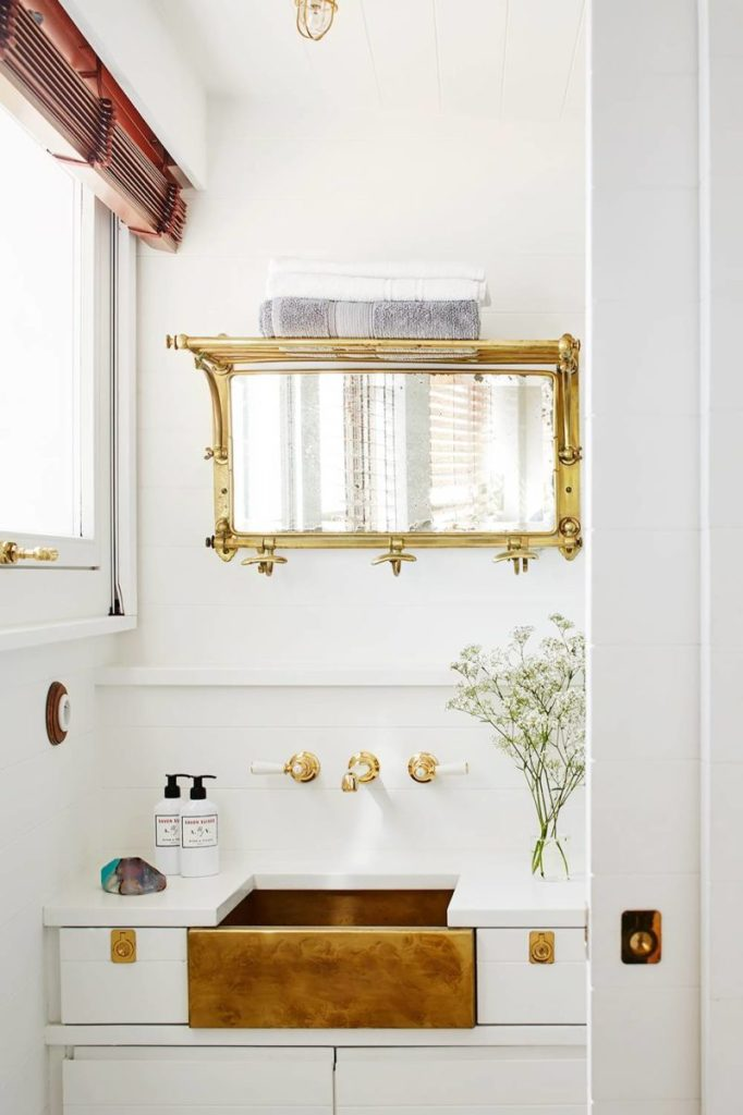 Antique Bathroom Mirror
