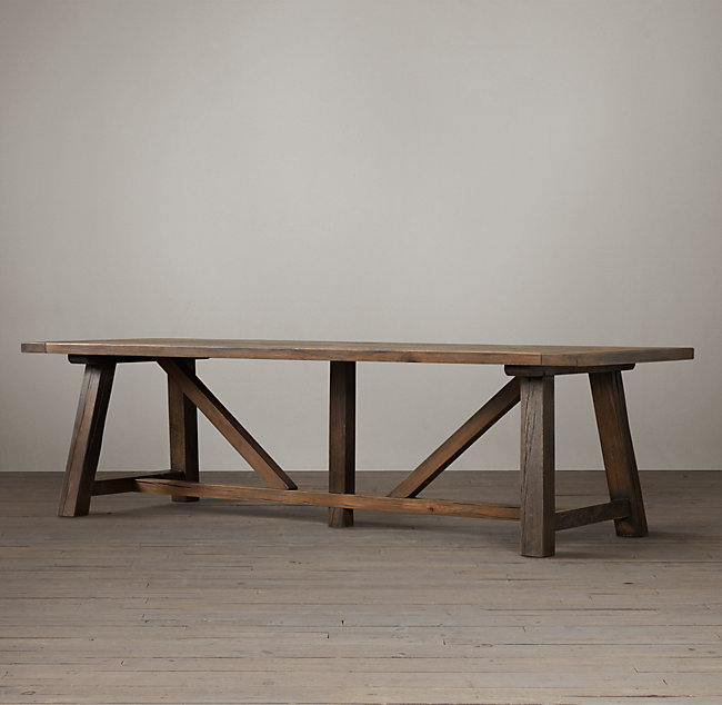 Trestle Rectangular Dining Table