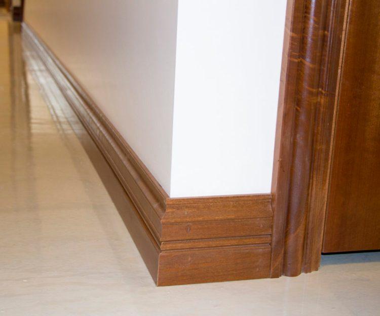 Hardwood baseboards