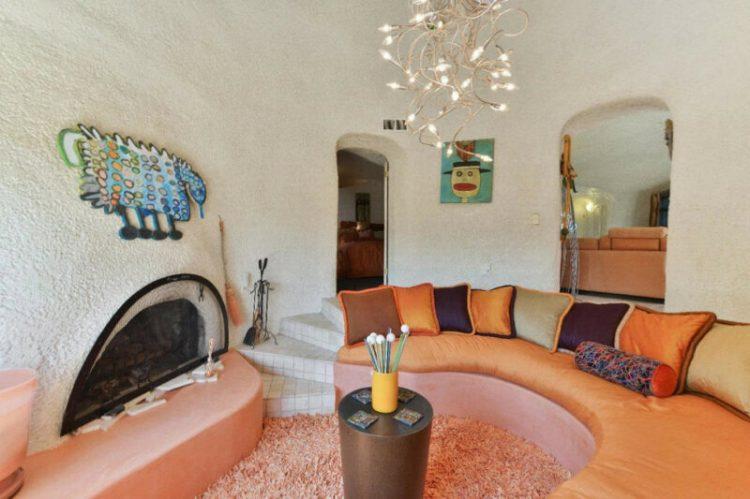 Spanish style sunken living room