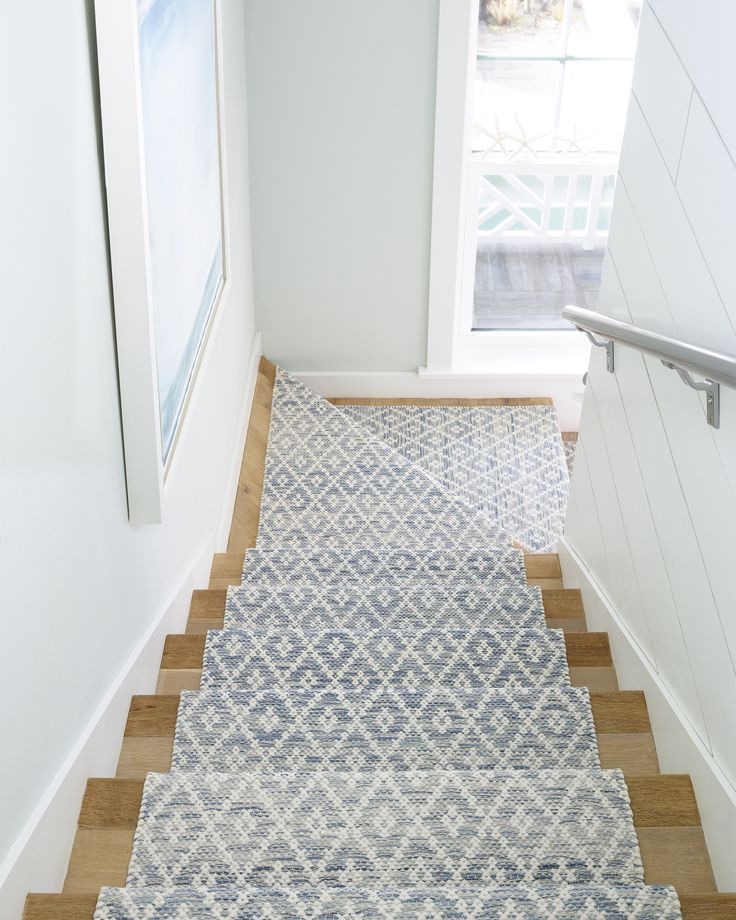 Stair runner diamond pattern