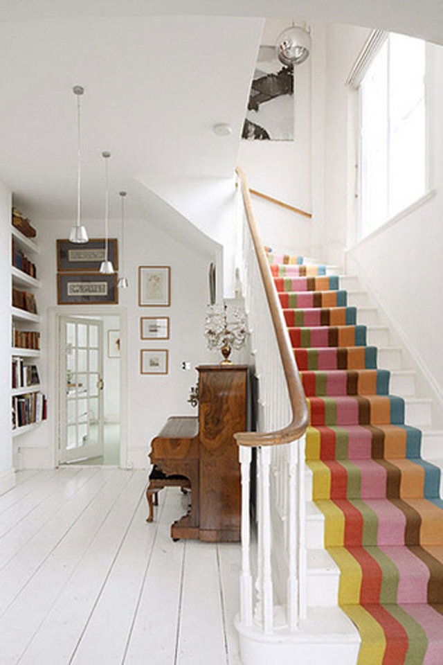 Stripped stair runners