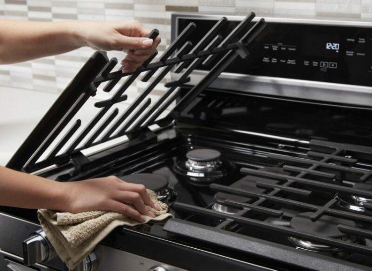 clean stove top grates cast iron