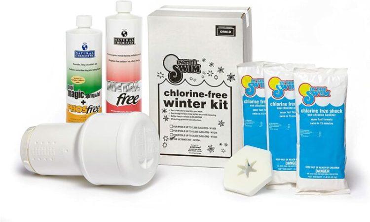 winterizing and adding winterizing algaecide and floaters
