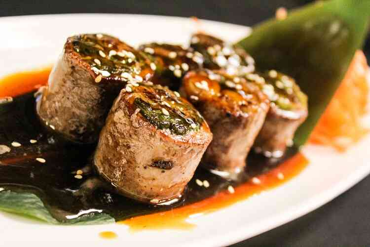 Beef negimaki - food starting with b