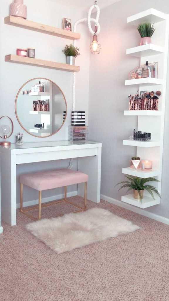 modern makeup desk