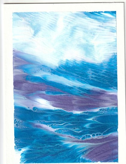 Blue White and purple abstract waves