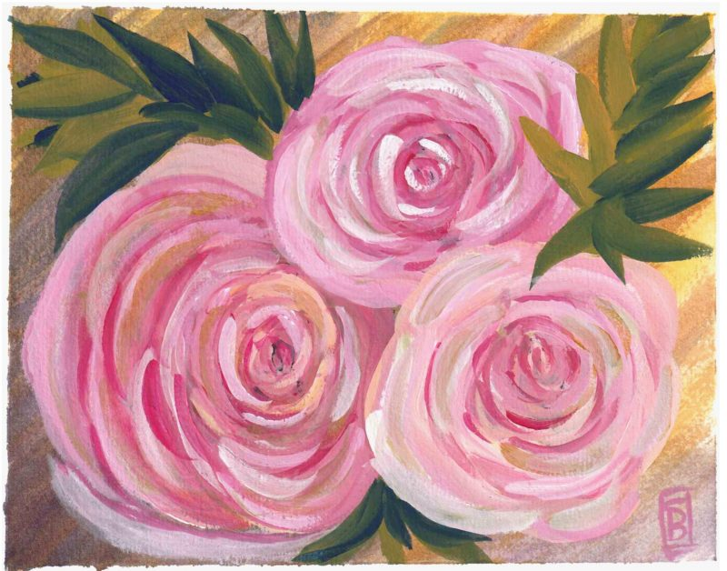 Pink Roses in Style