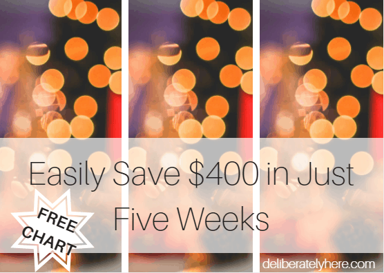 Easily Save $400 in Just Five Weeks