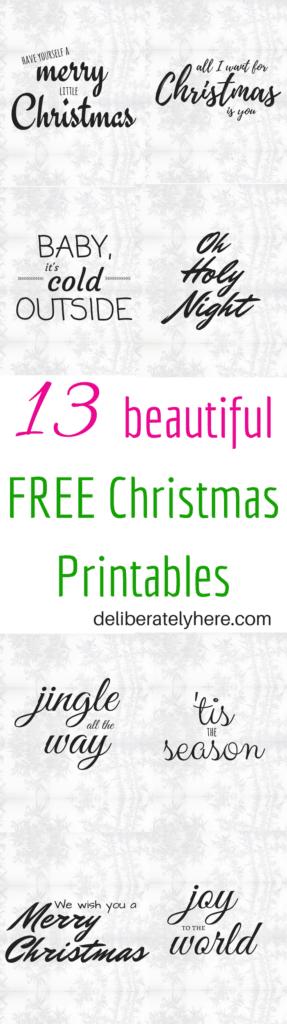 Free Beautiful Christmas Printables. FREEBIES